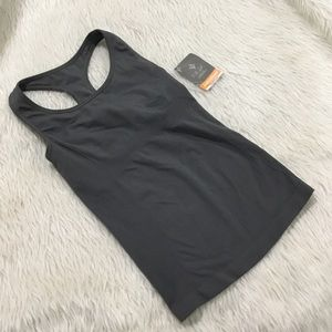Nux quantum racer tank gray fitness top